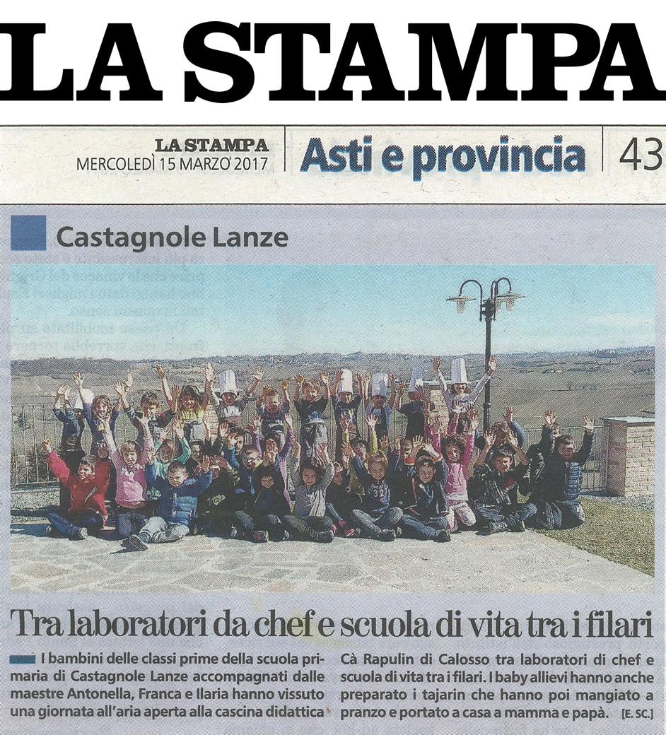 La Stampa - Asti e provincia - 15 marzo 2017.